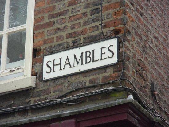 Shambles Street Sign