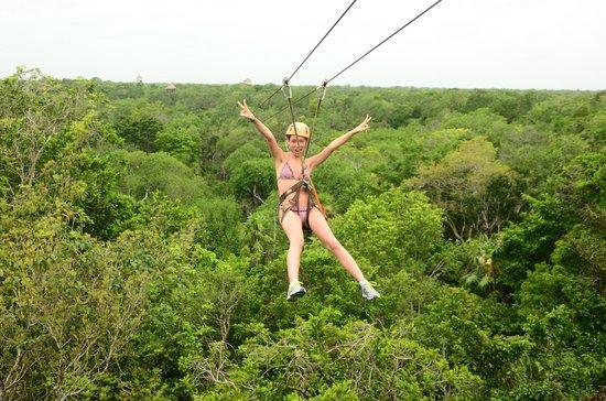 Mayan Jungle Tour: Zip-Line #1