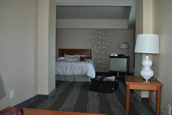 Radisson Hotel & Suites Fallsview: An additional sitting area was just around the corner at the end of the room