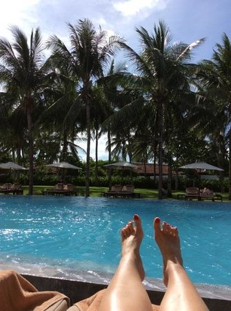 The Nam Hai Hoi An: lazing by the olympic size pool