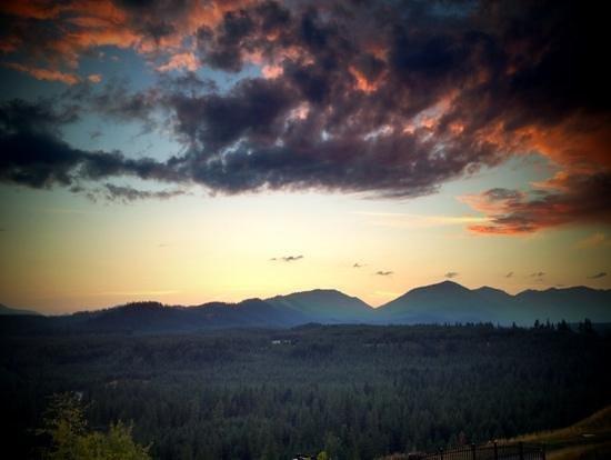 Suncadia Resort: sunset