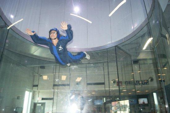 iFLY Indoor Skydiving: in flight