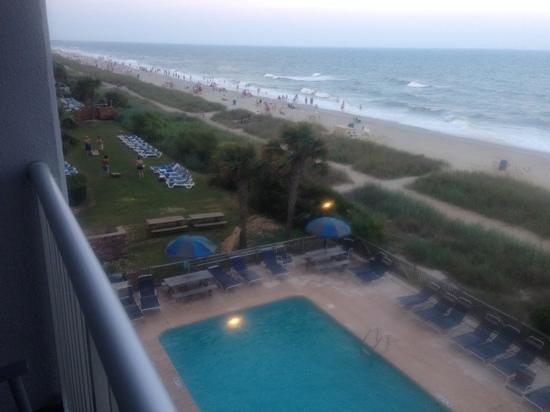 Indigo Inn : looking off of our 4th floor balcony