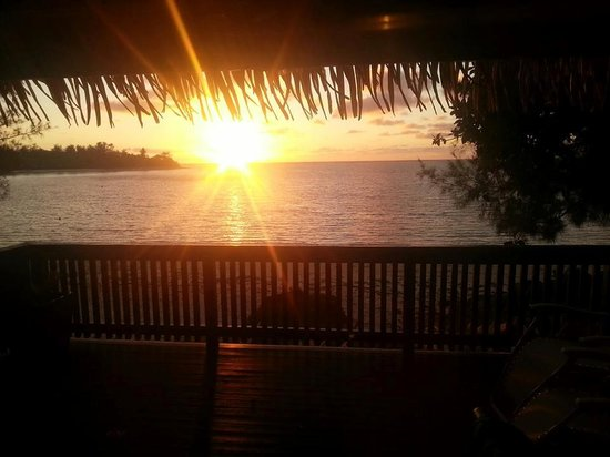 Muri Shores sunrise view from Deck