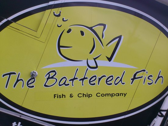 Battered Fish: a sign of great fish n chips