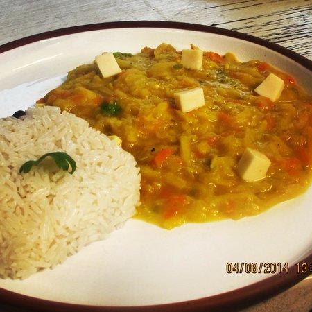 Yellow Pepper Bar and Restaurant: olluquito andino parte del menu