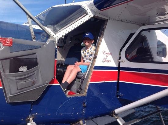 SaltSpring Air Tours : The youngest captain in the fleet.