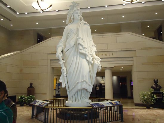 Capitol Hill: Replica of Statue of Freedom at the Visitor center.