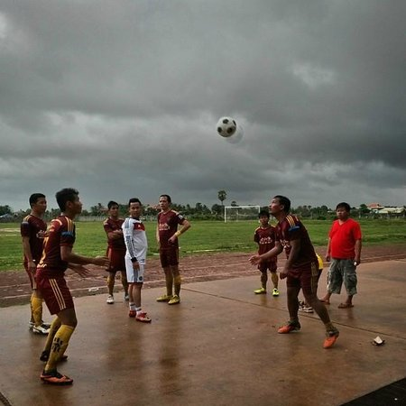 Angkor Driver Guide Private Siem Reap Day Tours: A local football game.