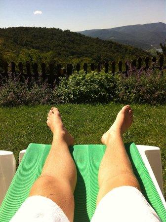 Silvanus Hotel Visegrad: Kilátás a lábam előtt...:)