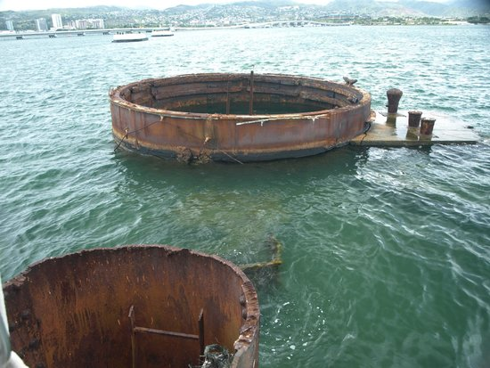 USS Arizona Memorial: Arizona gun turret