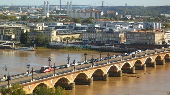 Pont de Pierre: Panoramic View from the Tower of the Eglise de Saint Michel