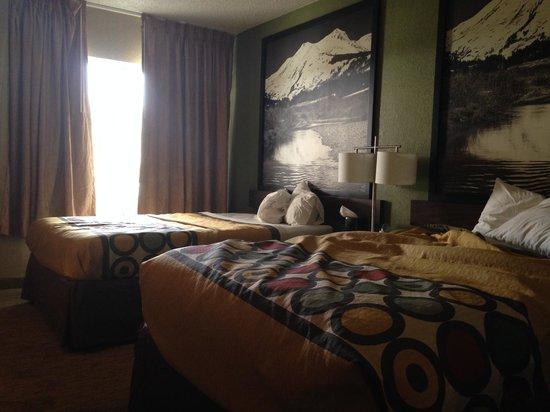 Super 8 Denver Midtown: Alternate view from inside the Super8 bedrooms.