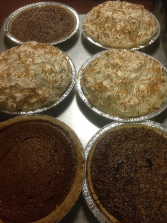 Johnny Cace's Seafood & Steak House: Deserts baked fresh Gotta Try one.