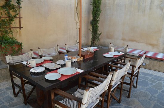 Zacosta Villa Hotel: The breakfast table in the courtyard