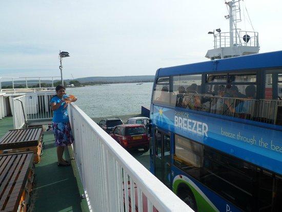 Sandbanks: On the floating bridge