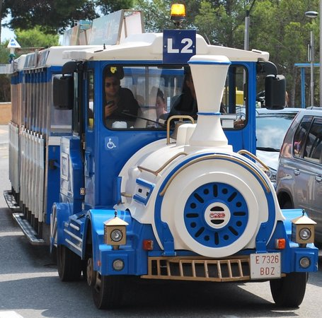 H10 Mediterranean Village: The train stops outside the hotel and can take you into Salou and to port Aventura