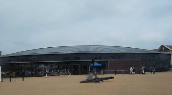 Portsmouth Historic Dockyard: The exterior of the Mary Rose museum