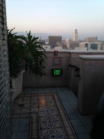 Roof top from the Perch restaurant, LA