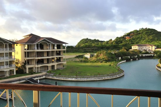 The Landings Resort & Spa St. Lucia: Unfinished development from balcony