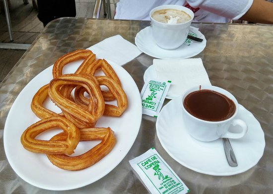 Cafe de L'Opera : Churros con Xocolate