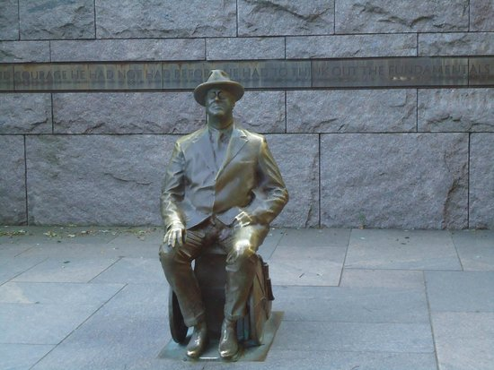 Franklin Delano Roosevelt Memorial: He inspires you.