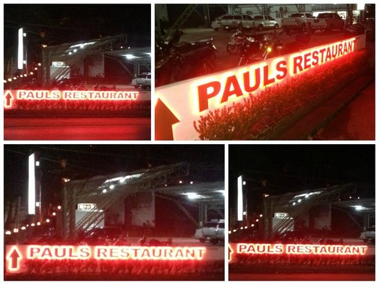 Pauls Restaurant: New Sign: showing the way to Paul's Restaurant