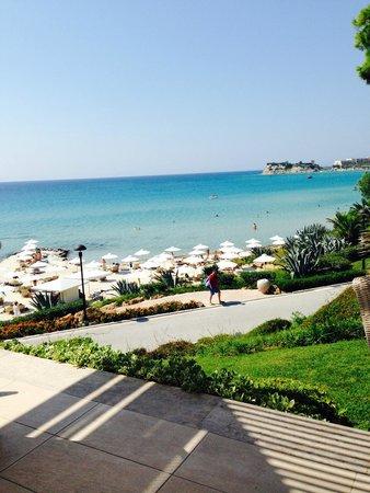 Sani Beach Club: View from walk to room