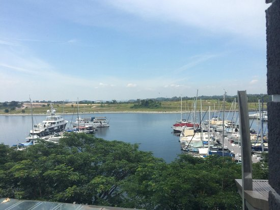 Hotel Jen Puteri Harbour, Johor: The sea view from the room.