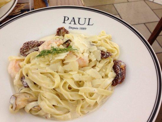 Paul: Pasta Specials : Tagliatelle aux crevettes et moutarde