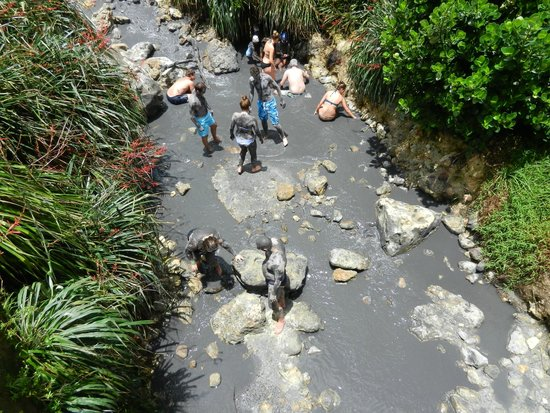 Sulphur Springs: View of Mud Baths from above