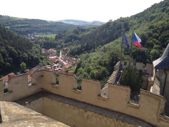 Praha Bike -  Bicycle Tours & Rentals : View from Karlstejn Castle