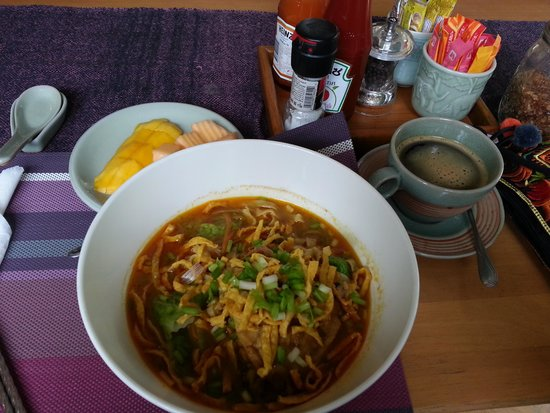 Seven Senses Guest House: signature noodle in Chiangmai (forgot name)