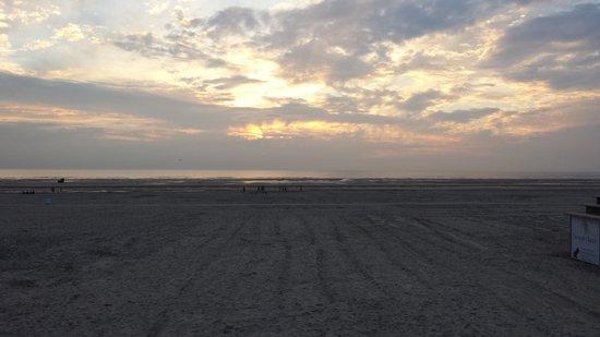Novotel Thalassa Le Touquet: sundown in Le Touquet