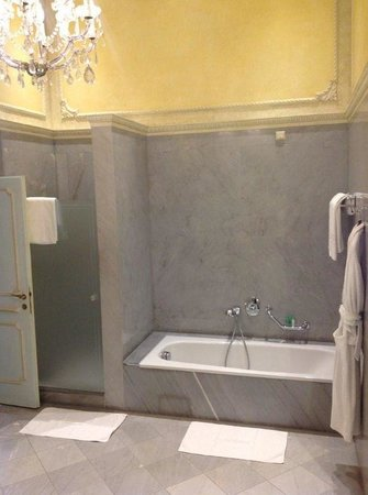 Hotel Imperial Vienna: Bath & Shower in Massive Room