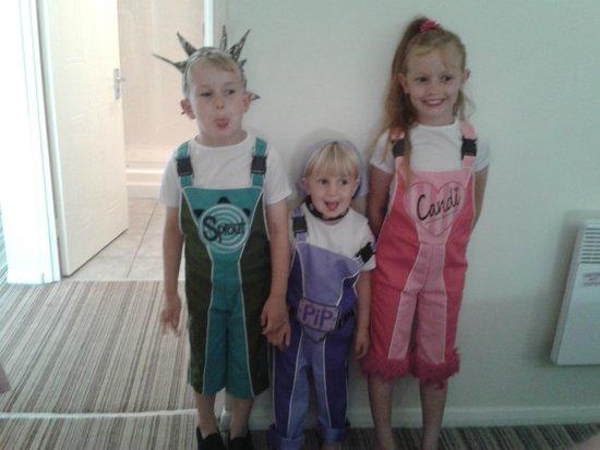 Butlin's Minehead Resort: my children dressed as the skyline gang