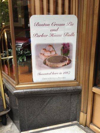 Omni Parker House : Home Boston Cream Pie & Parker House Rolls!