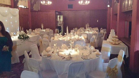 Castle Hotel The Tudor Room Set For Wedding Breakfast