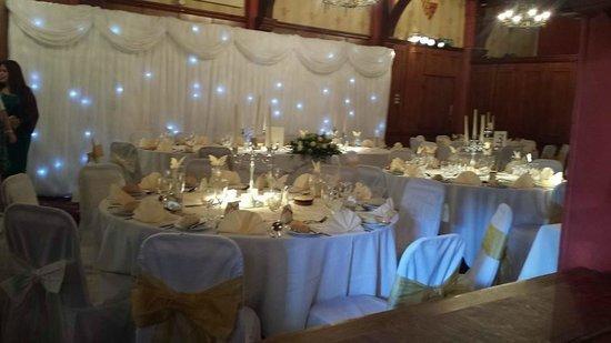 Castle Hotel Tudor Suite Set For The Wedding Breakfast