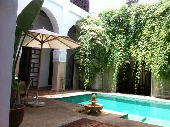 Riad Shama : Le patio et sa piscine