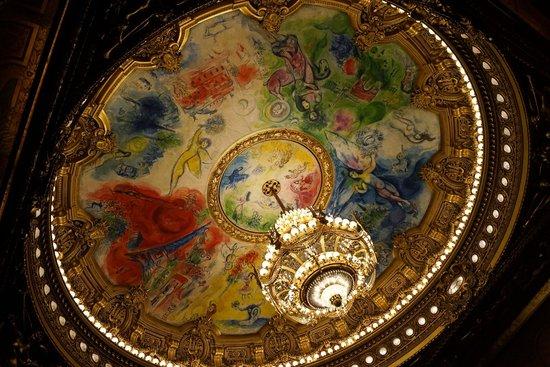 Opéra Garnier : 天井画 見れない時があるので注意