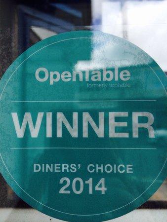 Vito's Italian Restaurant : OpenTable Winner DINNER S CHOISE 2014