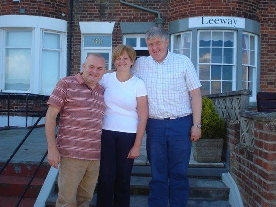 Leeway Hotel: Jamie with Alan & Jude