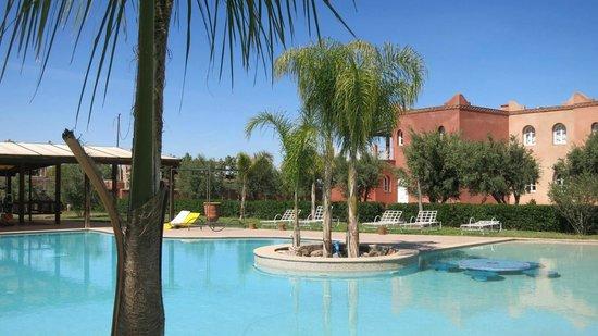 Residence Habiba: La piscine avec les résidences...
