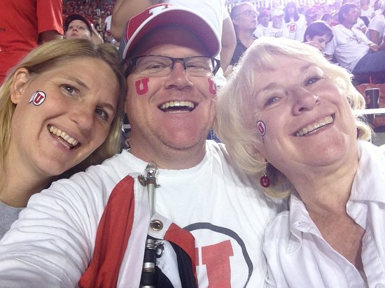 Salt Lake City Marriott University Park: Having fun at the Game with my wife and Mom