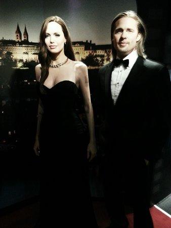 Madame Tussauds Prague : Brad Pitt and Angelina Jolie