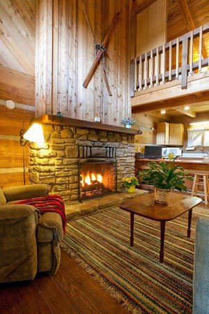 The Cataloochee Ranch : Our rooms are cozy and warm.