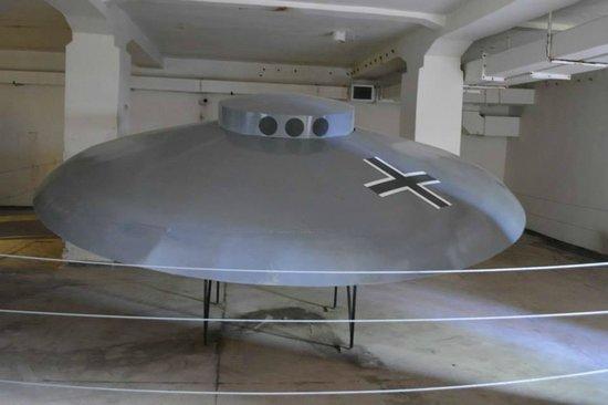 Wegorzewo, Poland: UFO- Haunebu III- element wystawy Tajnej Broni III Rzeszy- Wunderwaffe-  Mamerki