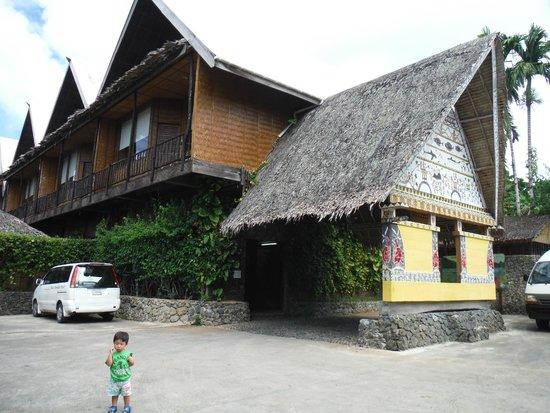 Palau Plantation Resort: ホテル入口正面