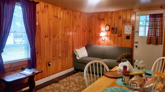 Tanglewood Motel and Cottages: Living area